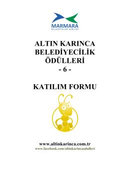 katılım formu - Marmara Belediyeler Birliği