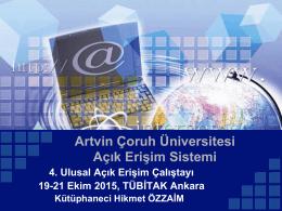 Artvin Çoruh Üniversitesi Açık Erişim Sistemi