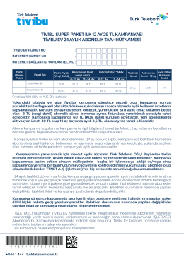tivibu süper paket ilk 12 ay 29 tl kampanyası tivibu ev 24 aylık