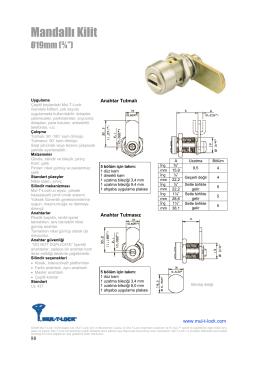 Ürün Kataloğu - Mul-T-lock