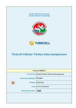 Turkcell Yıldız Kızlar Sonuçları