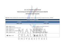 2015-2016 öğretim yılı güz dönemi insan kaynakları yönetimi