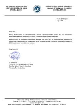 Stajyer Kontanjanı Talep Yazısı