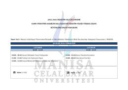 2015-2016 öğretim yılı güz dönemi kamu yönetimi anabilim dalı