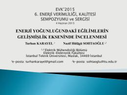 İstanbul Teknik Ünivesitesi Fen Bilimleri Enstitüsü
