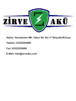 Adres: Horozluhan Mh. Vakur Sk. No:17 Selçuklu/Konya Telefon