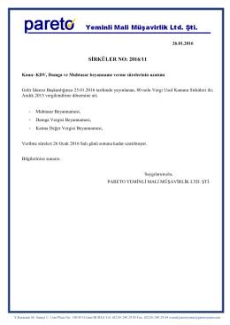 sırk-16-11 kdv, damga ve muhtasar beyanname