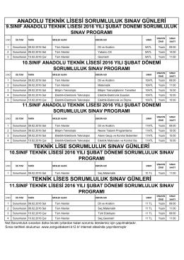 TEK. LİSE - Zonguldak Anadolu Teknik Lisesi ve EML