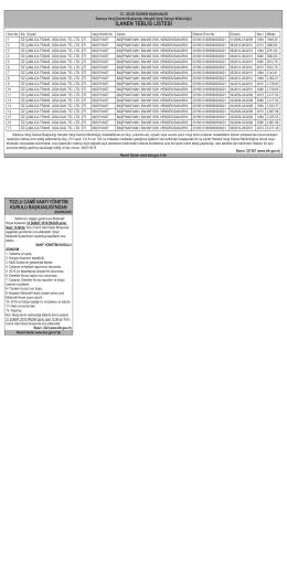 İLANEN TEBLİĞ LİSTESİ - Yeni Sakarya Gazetesi