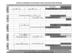 2015-2016 Bahar Yarıyılı Ders Programı(BOLOGNA)