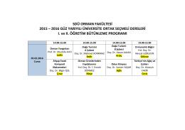 Üniversite Ortak Seçimlik Dersler 2016-Güz