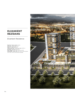 ELVANKENT REZİDANS - Alper Aksoy Mimarlık
