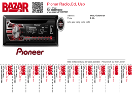 Pioner Radio,Cd, Usb