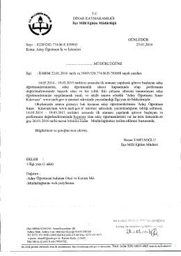 ilgi yazı için tıklayınız - Dinar İlçe Milli Eğitim Müdürlüğü