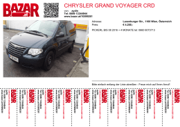 CHRYSLER GRAND VOYAGER CRD