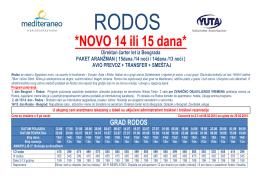Cenovnik RODOS (14-15 dana)