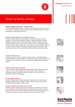 Saveti za štednju energije