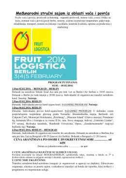 FRUIT LOGISTICA 2016 - Kompas tourism & travel