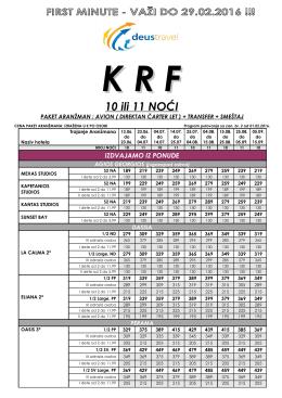 KRF 10 ili 11 NOĆI