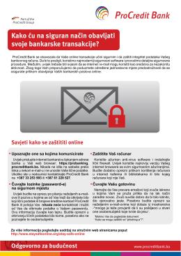 Sigurne bankarske transakcije