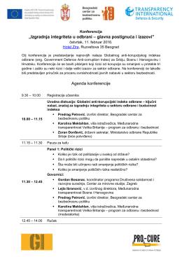 Agenda konferencije