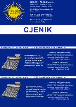 CJENIK - Solar Alagic