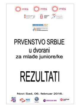 SLUŽBENI REZULTATI prvensvo Srbije ml.juniori