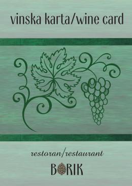 Borik Wine Card - Restoran Borik