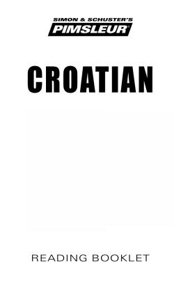 CROATIAN - Playaway