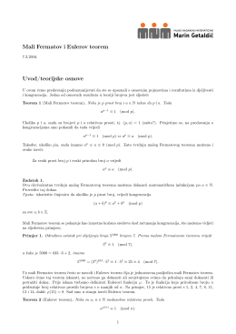 "mali Fermat i Euler - Mladi nadareni matematičari ""Marin Getaldić"""