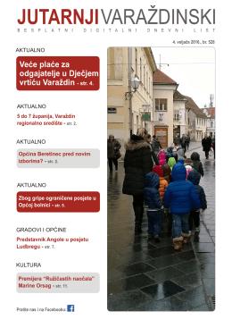 Veće plaće za odgajatelje u Dječjem vrtiću Varaždin