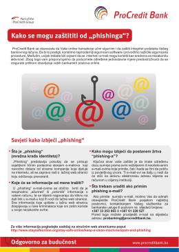 """Kako se mogu zaštititi od """"phishinga""""?"""