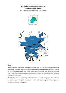 Od Radne zajednice Alpe-Jadran do Saveza Alpe