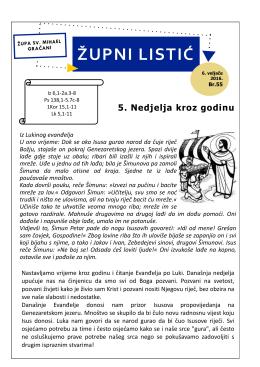 Župni listić - 5. Nedjelja kroz godinu - Župa Sv. Mihaela