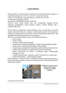Izvješće o radu 2010. - Pučka knjižnica i čitaonica Daruvar