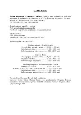 Izvješće o radu 2012. - Pučka knjižnica i čitaonica Daruvar