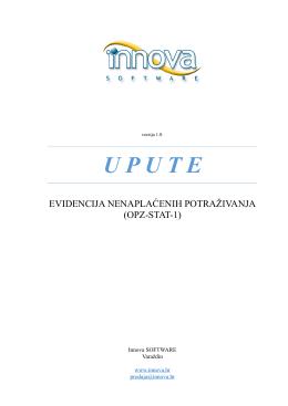 Evidencija nenaplaćenih potraživanja - OPZ-STAT-1