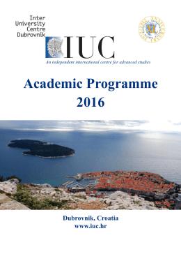 Academic Programme 2016