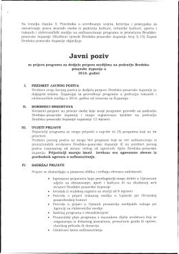 Javni poziv - Brodsko