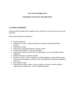 Katalog informacija - Gradsko kazalište mladih, Split