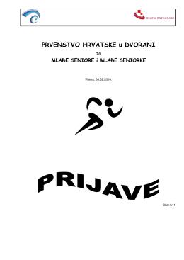 Pregled prijava - Atletski Klub Kvarner