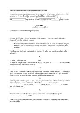 Nacrt ugovora - Hrvatski institut za lokalnu samoupravu