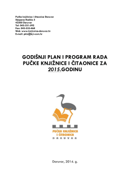 Program rada za 2015.
