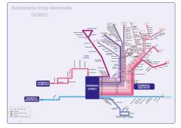 Trase autobusnih linija terminala Dubec - ZET-a