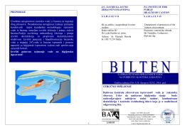 + Bilten o zdravstvenoj ispravnosti vode na području Kantona