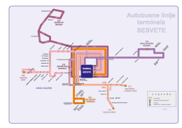 Trase autobusnih linija terminala Sesvete - ZET-a