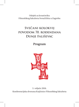 Program - Odsjek za kroatistiku