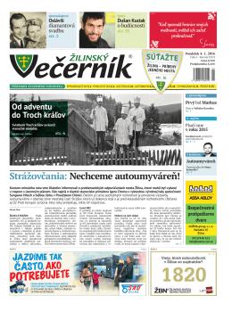 Žilinský večerník, rok 2016, číslo 1
