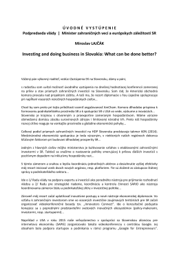 Investing and doing business in Slovakia: What can be