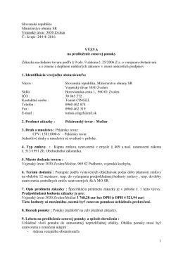 VÚ 3030 Zvolen - Pekárenský tovar - Močiar